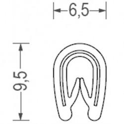 USZCZELKA UNIWERSALNA PCW 1-2 MM SREBRNA 1 METR RS34.3446