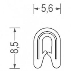 USZCZELKA UNIWERSALNA PCW 1 MM JASNOSZARA 1 METR RS34.3325