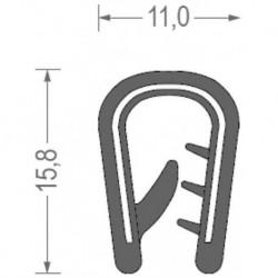 USZCZELKA UNIWERSALNA PCW 4-6 MM CZARNA 1 METR RS34.3851