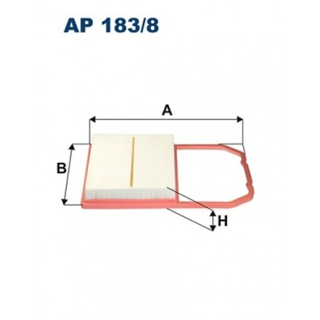 FILTR POWIETRZA FILTRON AP183/8