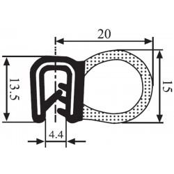 USZCZELKA UNIWERSALNA EPDM 1,5-3,5 MM CZARNA 1 METR RS41.2520