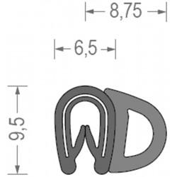 USZCZELKA UNIWERSALNA PCW / EPDM 1-2 MM  CZARNA 1 METR RS34.4431