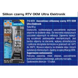 SILIKON CZARNY RTV PERMATEX 85 G