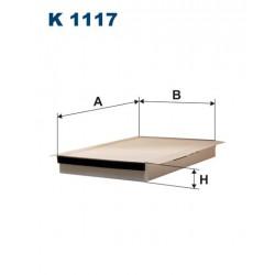 FILTR KABINY WT329002 ZAMIENNIK FILTRONA K 1117