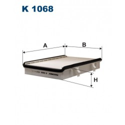 FILTR KABINY WT312006 ZAMIENNIK FILTRONA K 1068