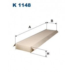 FILTR KABINY WT313032 ZAMIENNIK FILTRONA K 1148