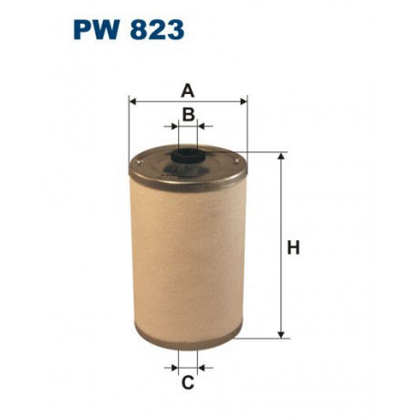 FILTR PALIWA WT89526 ZAMIENNIK FILTRONA PW 823