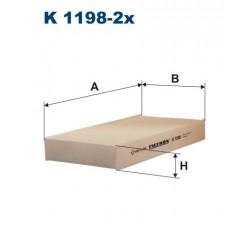 FILTR KABINY 338480 ZAMIENNIK FILTRONA K 1198-2X