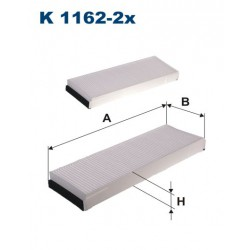 FILTR KABINY 338495 ZAMIENNIK FILTRONA K 1162-2X