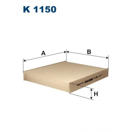 FILTR KABINY 338522 ZAMIENNIK FILTRONA K 1150