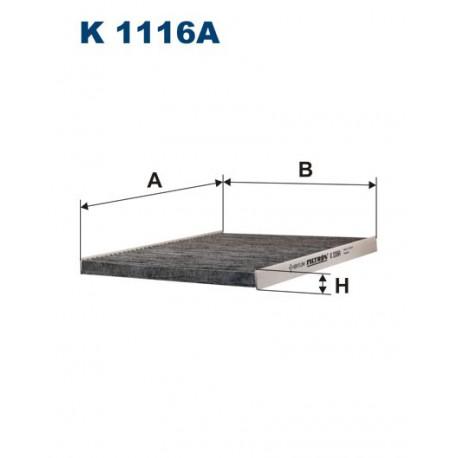 FILTR KABINY 338524 ZAMIENNIK FILTRONA K 1116A