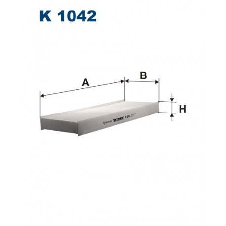 FILTR KABINY 338559 ZAMIENNIK FILTRONA K 1042