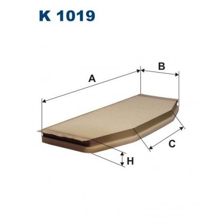 FILTR KABINY 338578 ZAMIENNIK FILTRONA K 1019