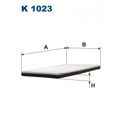 FILTR KABINY 338594 ZAMIENNIK FILTRONA K 1023